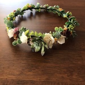 Accessories - Faux Succulent Crown